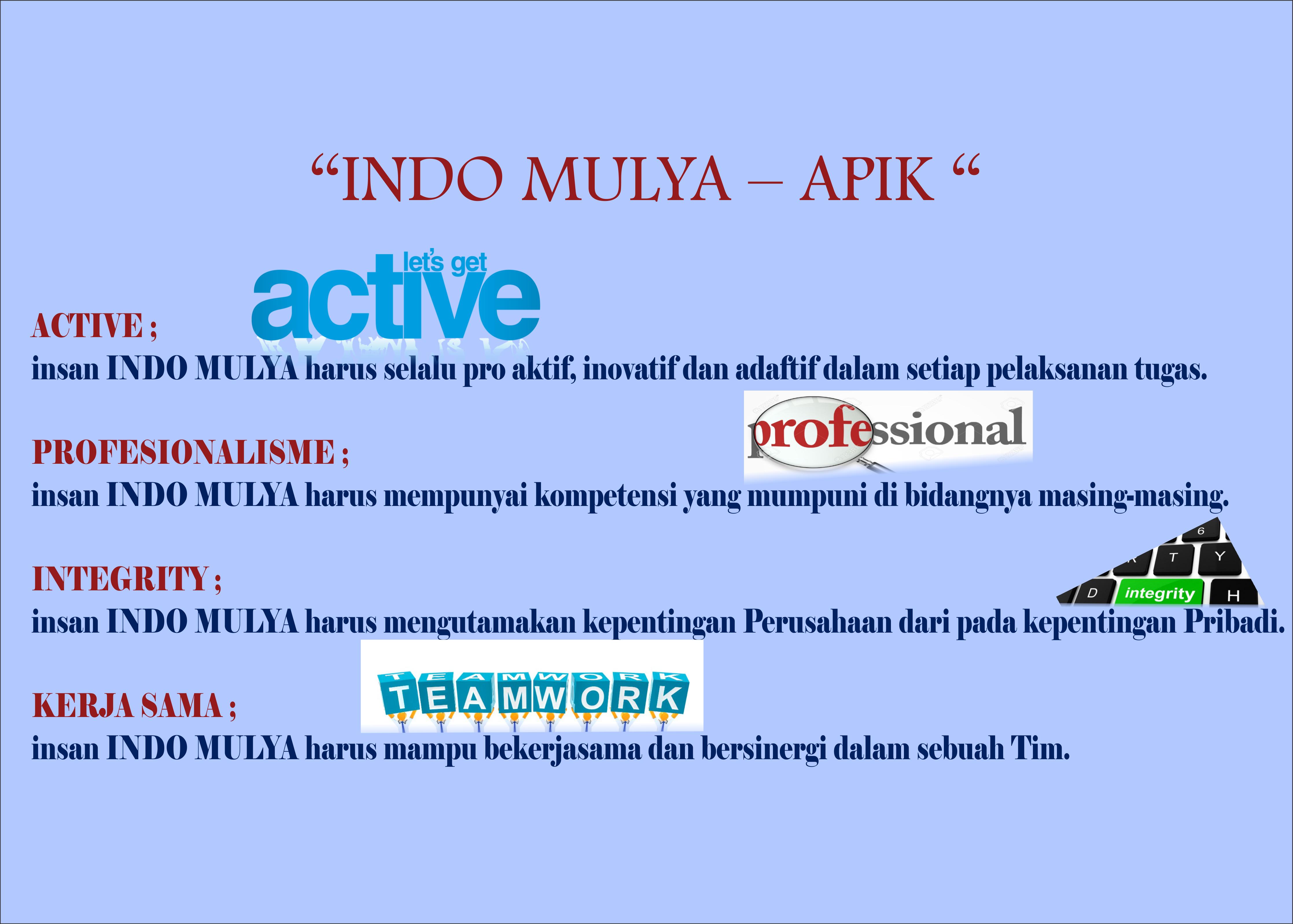 filsat A.P.I.K PT.Indo Mulya